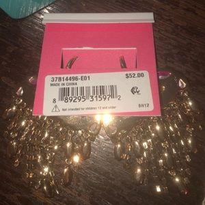 Betsey Johnson Jewelry - NWT Breaking Hearts Fringe Earrings